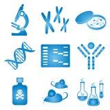 Icone di scienza di biologia Immagine Stock Libera da Diritti