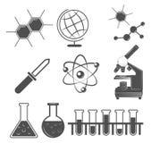 Icone di scienza messe Illustrazione di vettore Royalty Illustrazione gratis