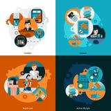 Icone di servizi degli esercizi alberghieri della località di soggiorno messe Fotografie Stock