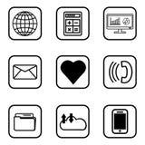Icone di servizi messe su fondo bianco royalty illustrazione gratis