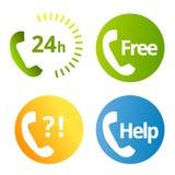 Icone di servizi telefonici Immagine Stock Libera da Diritti