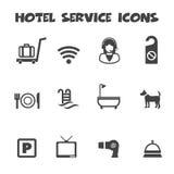 Icone di servizio degli esercizi alberghieri Fotografia Stock