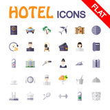 Icone di servizio degli esercizi alberghieri Immagine Stock