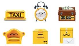 Icone di servizio del tassì di vettore. Parte 2 Immagini Stock