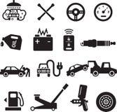 Icone di servizio dell'automobile fotografie stock libere da diritti