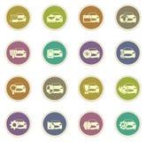 Icone di servizio dell'automobile impostate Fotografie Stock