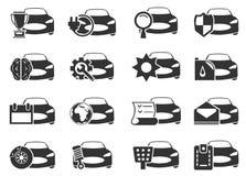 Icone di servizio dell'automobile impostate Fotografie Stock Libere da Diritti