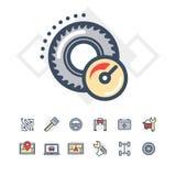 Icone di servizio dell'automobile impostate Immagine Stock