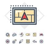 Icone di servizio dell'automobile impostate Immagini Stock Libere da Diritti