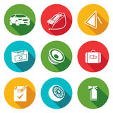 Icone di servizio dell'automobile impostate Illustrazione di vettore Immagini Stock Libere da Diritti