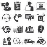 Icone di servizio di assistenza al cliente Fotografie Stock