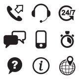 Icone di servizio di assistenza al cliente Immagine Stock