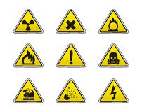 Icone di sicurezza Fotografia Stock
