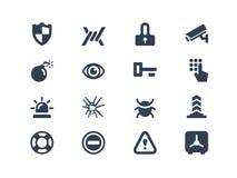 Icone di sicurezza Immagine Stock