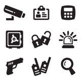 Icone di sicurezza Fotografie Stock Libere da Diritti