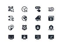 Icone di sicurezza e di commercio Serie di Lyra Immagini Stock Libere da Diritti