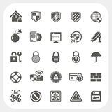 Icone di sicurezza messe Fotografia Stock