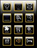 Icone di Smartphone Fotografia Stock