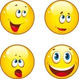 Icone di smiley Fotografia Stock Libera da Diritti