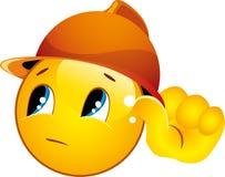 Icone di smiley in un casco Fotografia Stock Libera da Diritti