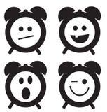 Icone di sorriso dell'orologio Fotografia Stock