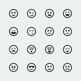 Icone di sorriso di vettore messe Fotografie Stock Libere da Diritti