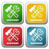 Icone di sostegno Immagine Stock Libera da Diritti