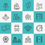 Icone di spettacolo e di divertimento Immagine Stock