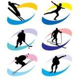 Icone di sport Fotografia Stock