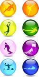 Icone di sport Fotografie Stock