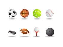 Icone di sport come le sfere di vettore hanno isolato Fotografie Stock