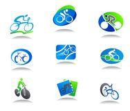 Icone di sport della bicicletta Immagine Stock
