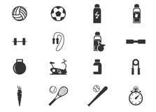 Icone di sport impostate Fotografie Stock Libere da Diritti