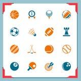 Icone di sport | in serie del blocco per grafici Immagini Stock Libere da Diritti