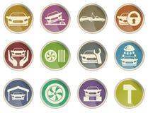 Icone di srvice dell'automobile Fotografia Stock