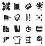 Icone di stampa dello schermo Fotografia Stock