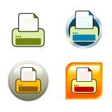 Icone di stampante Fotografia Stock