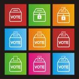 Icone di stile della metropolitana di elezione Immagini Stock
