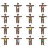 Icone di stile di vita messe Fotografie Stock Libere da Diritti