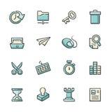 Icone di strategia e di affari illustrazione di stock