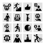 Icone di successo di affari messe Fotografie Stock Libere da Diritti