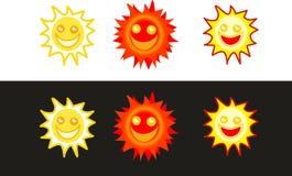 Icone di Sun Immagine Stock Libera da Diritti