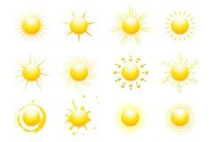 Icone di Sun Fotografia Stock Libera da Diritti