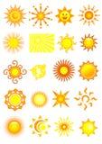 Icone di Sun Fotografie Stock