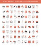 Icone di sviluppo di vendita di Internet Immagine Stock Libera da Diritti