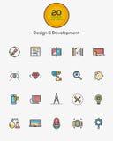 Icone di sviluppo e di progettazione Immagini Stock