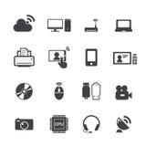Icone di tecnologia Fotografia Stock Libera da Diritti
