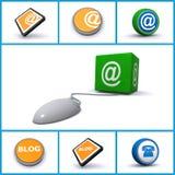 Icone di tecnologia del Internet Fotografie Stock