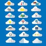 Icone di tecnologia della nuvola Fotografia Stock Libera da Diritti