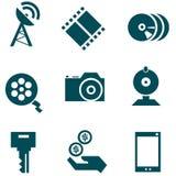 Icone di tecnologia di mezzi d'informazione messe Royalty Illustrazione gratis